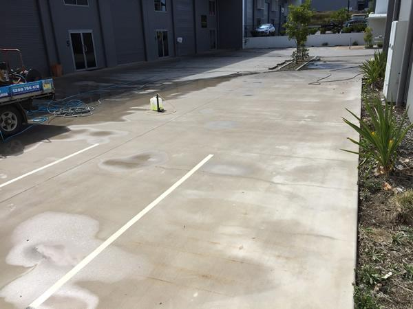 cleaning carpark concrete - after