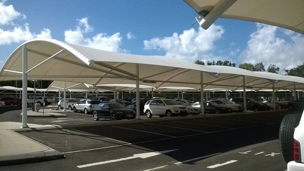 Shade Sail Cleaning Carparks