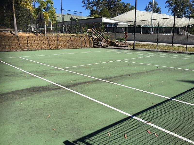 Tennis Court Surface Clean